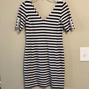 Banana Republic Dress Striped Black & White SZ 0